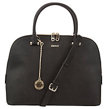 Buy DKNY Saffiano Round Leather Satchel Bag Online at johnlewis.com