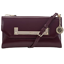 Buy DKNY Hudson Leather Clutch Bag, Bordeaux Online at johnlewis.com