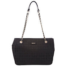 Buy DKNY HQ Print Saffiano Leather Shopper Bag, Black Online at johnlewis.com