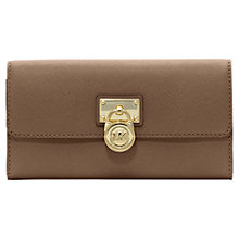 Buy MICHAEL Michael Kors Hamilton 18K Leather Flapover Purse, Dark Dune Online at johnlewis.com