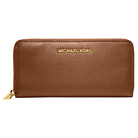 Buy MICHAEL Michael Kors Bedford Leather Zip Around Continental Purse Online at johnlewis.com