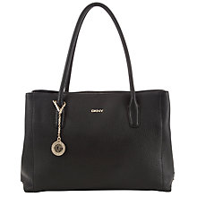 Buy DKNY Tribeca Triple Shopper Leather Bag, Black Online at johnlewis.com
