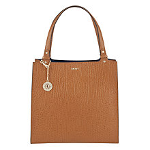 Buy DKNY Beekman NS Leather Tote Bag, Tan Online at johnlewis.com
