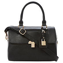 Buy Dune Darreline Barrel Bag, Black Online at johnlewis.com