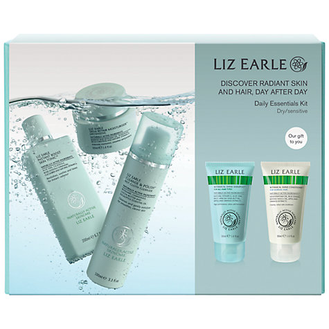Buy Liz Earle Skincare Daily Essentials Kit, Dry / Sensitive Online at johnlewis.com