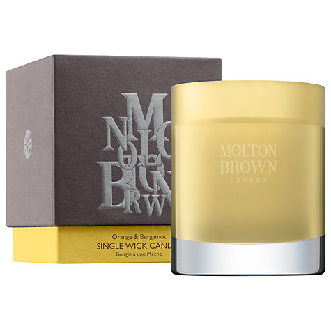 Buy Molton Brown Orange & Bergamot Single Wick Scented Candle, 180g Online at johnlewis.com