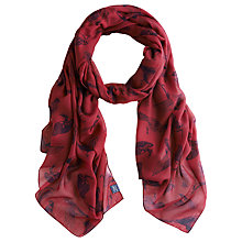 Buy Joules Wensley Woven Scarf, Dark Pink Online at johnlewis.com