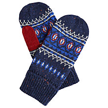 Buy Joules Fairlee Mittens, Navy Online at johnlewis.com