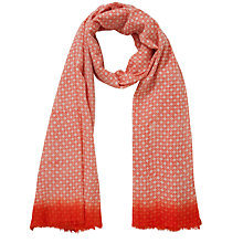 Buy Becksondergaard Graphic Circle Scarf, Red Online at johnlewis.com