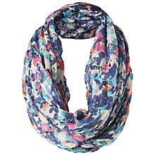 Buy Fat Face Smudge Floral Snood, Blue Online at johnlewis.com