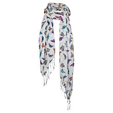 Buy Fat Face Butterfly Scarf, Natural Online at johnlewis.com