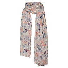 Buy Fat Face Songbird Branch Scarf, Natural Online at johnlewis.com