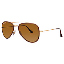 Buy Ray-Ban RB3513 Aviator Flat Metal Sunglasses Online at johnlewis.com