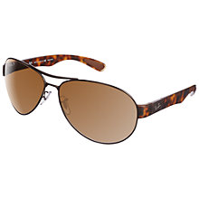 Buy Ray-Ban RB3509 Aviator Sunglasses, Arista Brown Online at johnlewis.com