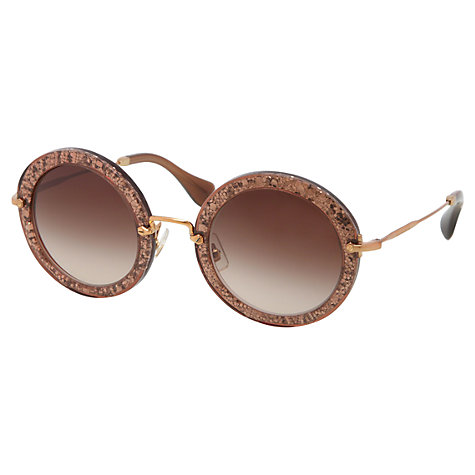 Buy Miu Miu OMU13NS Round Sunglasses Online at johnlewis.com