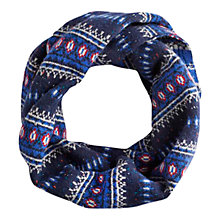 Buy Joules Fairlee Wool Mix Snood, Navy Online at johnlewis.com