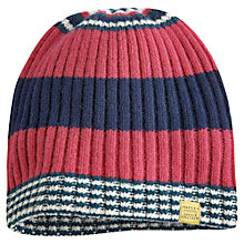 Buy Joules Bawdy Beanie Hat, Pink Online at johnlewis.com