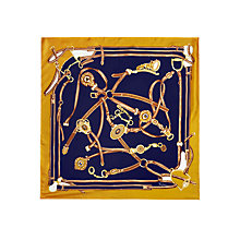 Buy Joules Heritage Silk Scarf, Navy Online at johnlewis.com