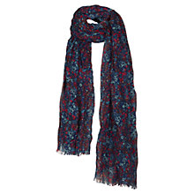 Buy Fat Face Vintage Floral Scarf, Blue Online at johnlewis.com