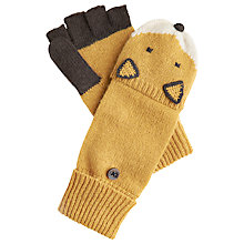 Buy Joules Fox Gloves, Brown Online at johnlewis.com