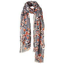 Buy Fat Face Blossom Geo Scarf, Blue Online at johnlewis.com