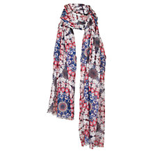 Buy Fat Face Kaleidoscope Scarf, Navy Online at johnlewis.com