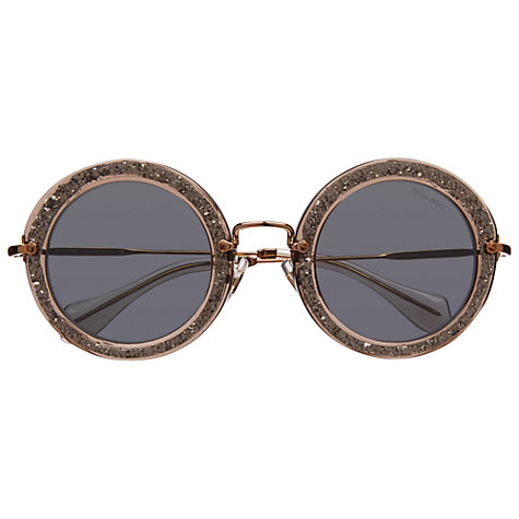 Buy Miu Miu MU13NS Round Sunglasses Online at johnlewis.com