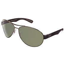 Buy Ray-Ban RB3509 Polarised Aviator Sunglasses Online at johnlewis.com