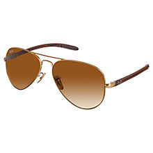Buy Ray-Ban RB8307 Aviator Metal Frame Polarised Sunglasses Online at johnlewis.com
