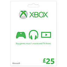 Buy Xbox Live £25 Gift Card Online at johnlewis.com