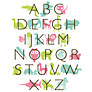Buy Letterfest Kid's Name Framed Print, Blue/ Green, 21 x 42cm Online at johnlewis.com