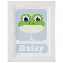 Buy Stripey Cats Personalised Frog Framed Print, 23 x 18cm, Green Online at johnlewis.com