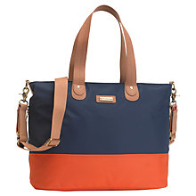 Buy Storksak Tote Changing Bag, Orange/Navy Online at johnlewis.com