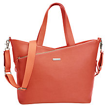 Buy Storksak Lucinda Leather Changing Bag, Orange Online at johnlewis.com