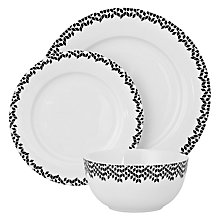 Buy John Lewis Geometric Tableware Set, 12 Piece Online at johnlewis.com