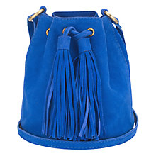 Buy Jigsaw Monica Suede Duffel Bag Online at johnlewis.com