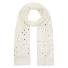 Buy Hobbs Foil Spot Scarf, Ivory Online at johnlewis.com