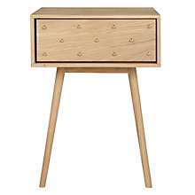 Buy Bethan Gray for John Lewis Genevieve 1 Drawer Bedside Table, FSC Oak Online at johnlewis.com