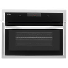 Buy John Lewis JLBIMW02 Built-In Microwave with Grill, Stainless Steel Online at johnlewis.com