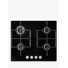 Buy John Lewis JLBIGGH606 Gas Hob, Black Glass Online at johnlewis.com