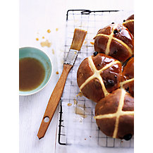 Cherry & Chocolate Hot Cross Buns by Waitrose