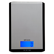 Buy John Lewis Slimline Digital Kitchen Scale, 3kg Online at johnlewis.com