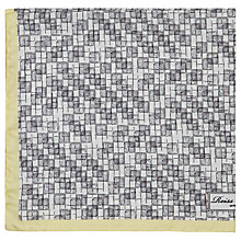 Buy Reiss March Silk Patterned Pocket Square, Grey Online at johnlewis.com
