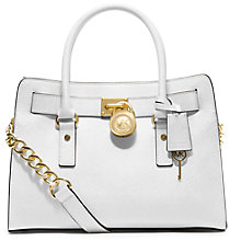 Buy MICHAEL Michael Kors Hamilton 18K East/West Leather Satchel Bag Online at johnlewis.com