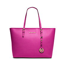 Buy MICHAEL Michael Kors Jet Set Travel Leather Tote Bag Online at johnlewis.com