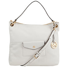 Buy Mira Large Leather Shoulder Bag, Optic White Online at johnlewis.com