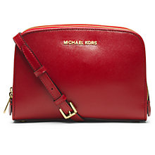 Buy Michael Kors Reese Leather Mini Messenger Bag Online at johnlewis.com