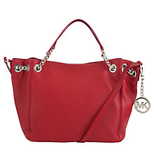 Buy Michael Kors Jet Set Chain Leather Tote Bag, Scarlet Online at johnlewis.com