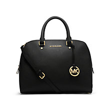 Buy MICHAEL Michael Kors Jet Set Travel Leather Grab Bag, Black Online at johnlewis.com