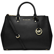 Buy MICHAEL Michael Kors Jet Set Travel Dressy Leather Grab Bag Online at johnlewis.com